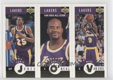 1996-97 Upper Deck Collector's Choice Team Sets Los Angeles Lakers #L2 - Eddie Jones, Shaquille O'Neal, Nick Van Exel