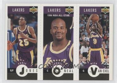 1996-97 Upper Deck Collector's Choice Team Sets Los Angeles Lakers #L2 - Eddie Jones, Shaquille O'Neal, Nick Van Exel