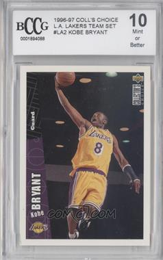 1996-97 Upper Deck Collector's Choice Team Sets Los Angeles Lakers #LA2 - Kobe Bryant [ENCASED]