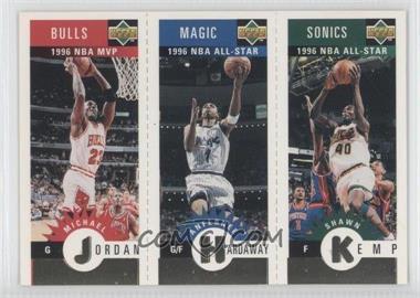 1996-97 Upper Deck Collector's Choice Upper Deck Mini-Cards Gold #MKHJ - Michael Jordan, Anfernee Hardaway, Shawn Kemp