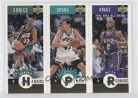 Hersey Hawkins, Will Perdue, Mitch Richmond