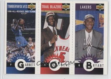 1996-97 Upper Deck Collector's Choice Upper Deck Mini-Cards #M129-158-139 - Kevin Garnett, Jermaine O'Neal, Kobe Bryant