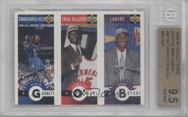 1996-97 Upper Deck Collector's Choice Upper Deck Mini-Cards #M129-158-139 - Kevin Garnett, Jermaine O'Neal, Kobe Bryant [BGS 9.5]