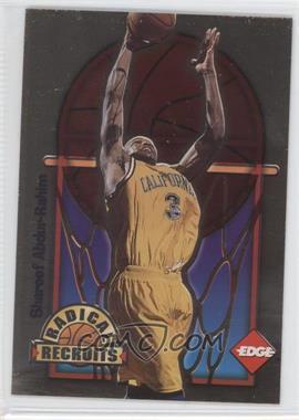 1996 Edge Radical Recruits Gold #1 - Shareef Abdur-Rahim /1000