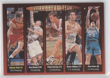 1996 Futera NBL - Futera Dream Team #N/A - Andrew Gaze, Paul Rees, Ray Borner, Peter Harvey, Brett Maher