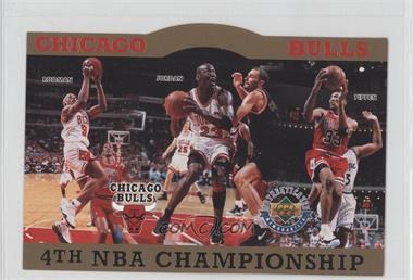 1996 Upper Deck Authenticated #CB4C.2 - Chicago Bulls 4th NBA Championship (Dennis Rodman, Michael Jordan, Scottie Pippen) /10000