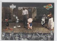 Michael Jordan, Daffy Duck, Bugs Bunny, Porky Pig