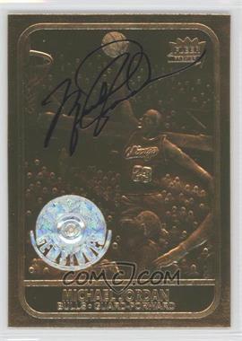 1997-00 23KT Gold Card Fleer Reprints Rookies #J867.2 - Michael Jordan 1986-87 (All Gold, Black Signature, Gemstones) /2323