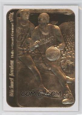 1997-00 23KT Gold Card Fleer Reprints Rookies #J86S.1 - Michael Jordan 1986-87 Sticker (White Border)