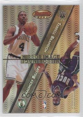1997-98 Bowman's Best - Mirror Image - Refractor #MI8 - Chauncey Billups, Terrell Brandon, Antonio Davis, Kevin Johnson