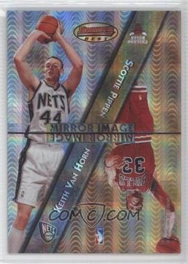 1997-98 Bowman's Best Mirror Image Atomic Refractor #MI4 - Keith Van Horn, Scottie Pippen, Kobe Bryant, Cedric Ceballos