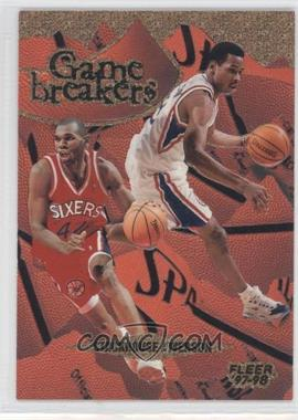 1997-98 Fleer Game Breakers #8 - Jerry Stackhouse, Allen Iverson