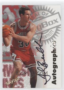 1997-98 Skybox Premium - Autographics - [Autographed] #JUBU - Jud Buechler