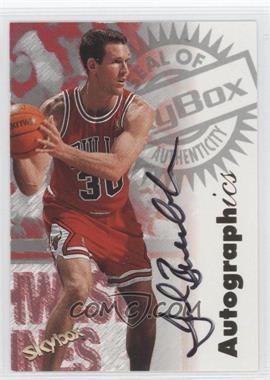 1997-98 Skybox Premium Autographics [Autographed] #N/A - Jud Buechler