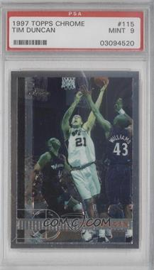 1997-98 Topps Chrome #115 - Tim Duncan [PSA 9]