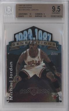 1997-98 Topps Generations #G2 - Michael Jordan [BGS9.5]