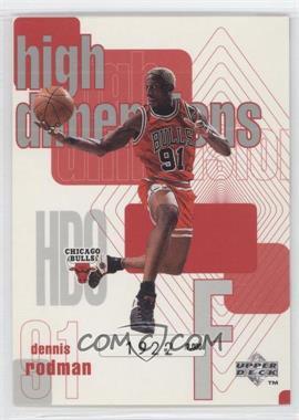 1997-98 Upper Deck - High Dimensions #HD9 - Dennis Rodman /2000
