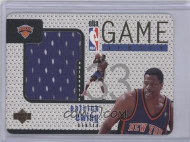 1997-98 Upper Deck Game Jersey #GJ20 - Patrick Ewing