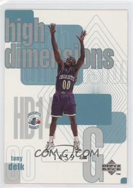 1997-98 Upper Deck High Dimensions #HD14 - Tony Delk /2000