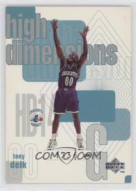 1997-98 Upper Deck High Dimensions #HD14 - Tony Delk /2000