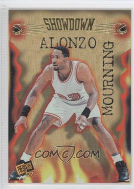 1997 Press Pass Double Threat Showdown #S1 - Alonzo Mourning, Tim Duncan