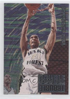 1997 Wheels Rookie Thunder Double Trouble #DT01 - Tim Duncan, Keith Van Horn