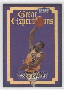 1998-99 Fleer Tradition Great Expectations #3GE - Kobe Bryant