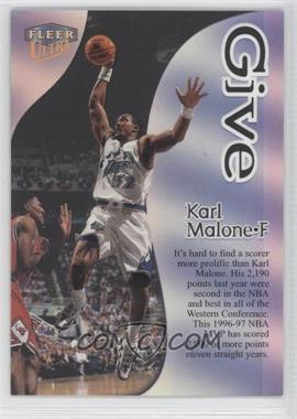 1998-99 Fleer Ultra - Give & Take #10GT - Karl Malone