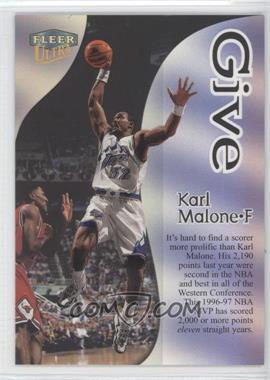 1998-99 Fleer Ultra Give & Take #10GT - Karl Malone