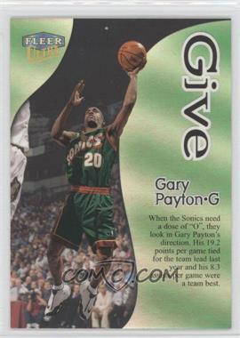 1998-99 Fleer Ultra Give & Take #1GT - Gary Payton