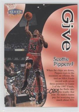 1998-99 Fleer Ultra Give & Take #5GT - Scottie Pippen