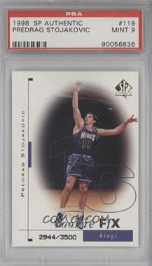 1998-99 SP Authentic - [Base] #119 - Predrag Stojakovic /3500 [PSA 9]