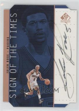 1998-99 SP Authentic Sign of the Times Bronze [Autographed] #JR - Jalen Rose