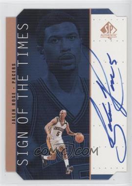 1998-99 SP Authentic Sign of the Times Bronze [Autographed] #JR - Jalen Rose