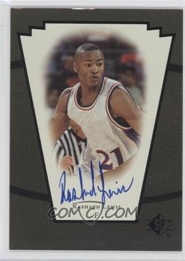 1998-99 SP Top Prospects - Vital Signs - [Autographed] #RL - Rashard Lewis