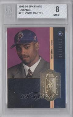 1998-99 SPx Finite Radiance #215 - Vince Carter /1500 [BGS 8]