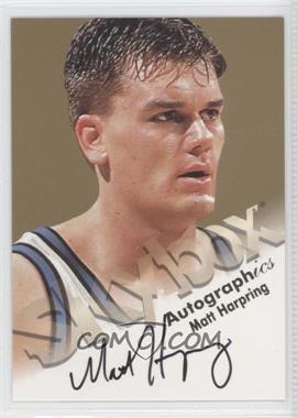 1998-99 Skybox Premium Autographics [Autographed] #MAHA - Matt Harpring