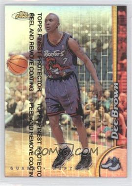 1998-99 Topps Finest Refractor #153 - Dee Brown
