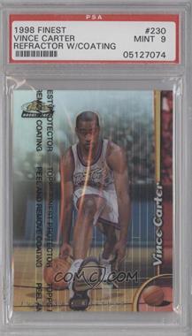 1998-99 Topps Finest Refractor #230 - Vince Carter [PSA9]
