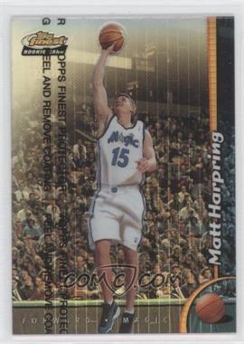 1998-99 Topps Finest Refractor #240 - Matt Harpring
