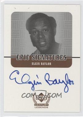 1998-99 Upper Deck Century Legends - Epic Signatures #EB - Elgin Baylor