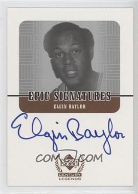 1998-99 Upper Deck Century Legends Epic Signatures #EB - Elgin Baylor