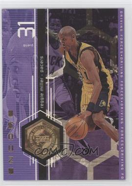 1998-99 Upper Deck Encore Driving Forces F/X #F11 - Reggie Miller /500