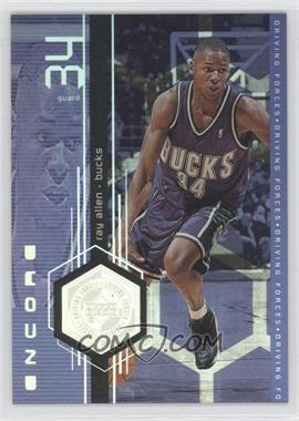 1998-99 Upper Deck Encore Driving Forces #F15 - Ray Allen