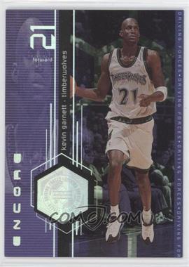 1998-99 Upper Deck Encore Driving Forces #F4 - Kevin Garnett