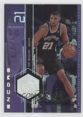 1998-99 Upper Deck Encore Driving Forces #F5 - Tim Duncan
