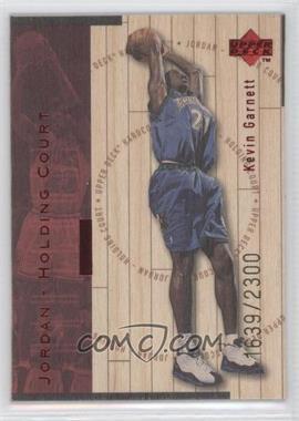 1998-99 Upper Deck Hardcourt Jordan - Holding Court Red #J16 - Kevin Garnett, Michael Jordan /2300