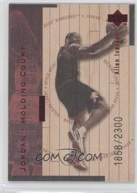 1998-99 Upper Deck Hardcourt Jordan - Holding Court Red #J20 - Allen Iverson, Michael Jordan /2300
