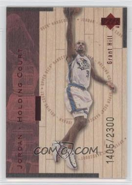 1998-99 Upper Deck Hardcourt Jordan - Holding Court Red #J8 - Grant Hill, Michael Jordan /2300
