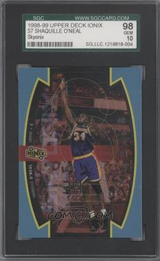 1998-99 Upper Deck Ionix Skyonix #S7 - Shaquille O'Neal [SGC 98]